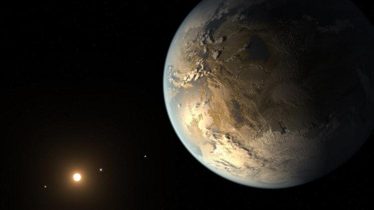 Kepler 186f в представлении художника