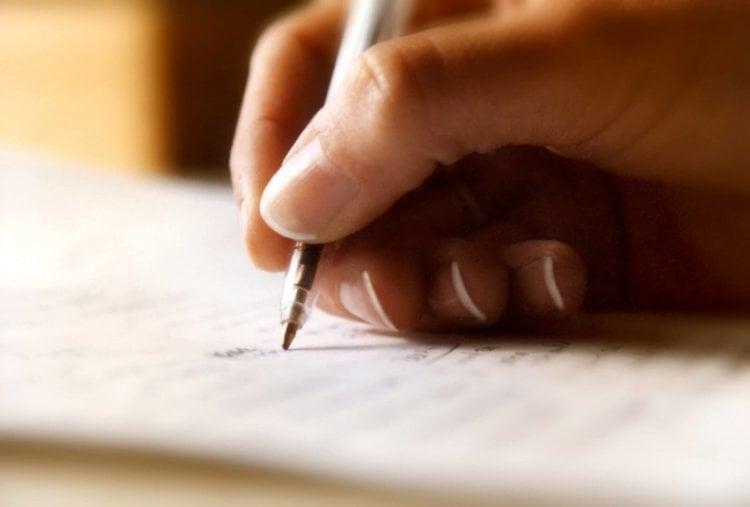 Запись от руки