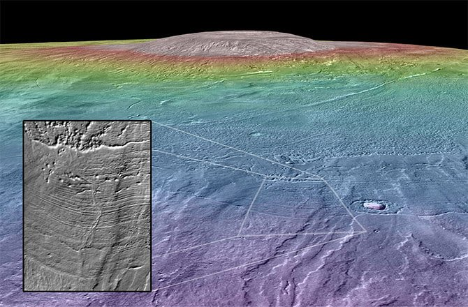 Оазисом жизни могли быть марсианские вулканы (2 фото)