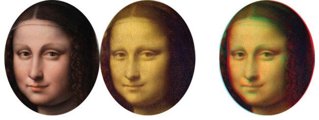 "Лицо ""Мона Лизы"" в 3D (справа)"