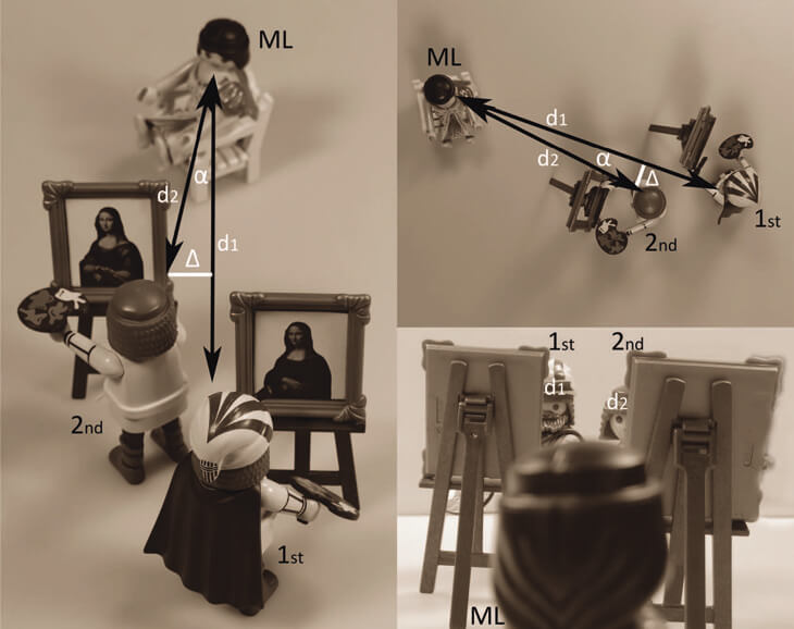 """Положение художников во время написания """"Мона Лизы"""""""