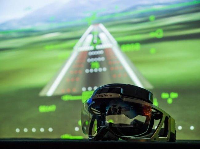 Виртуальные очки Skylens для пилотов