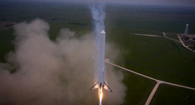 SpaceX Falcon 9 Reusable достиг высоты в 1000 метров