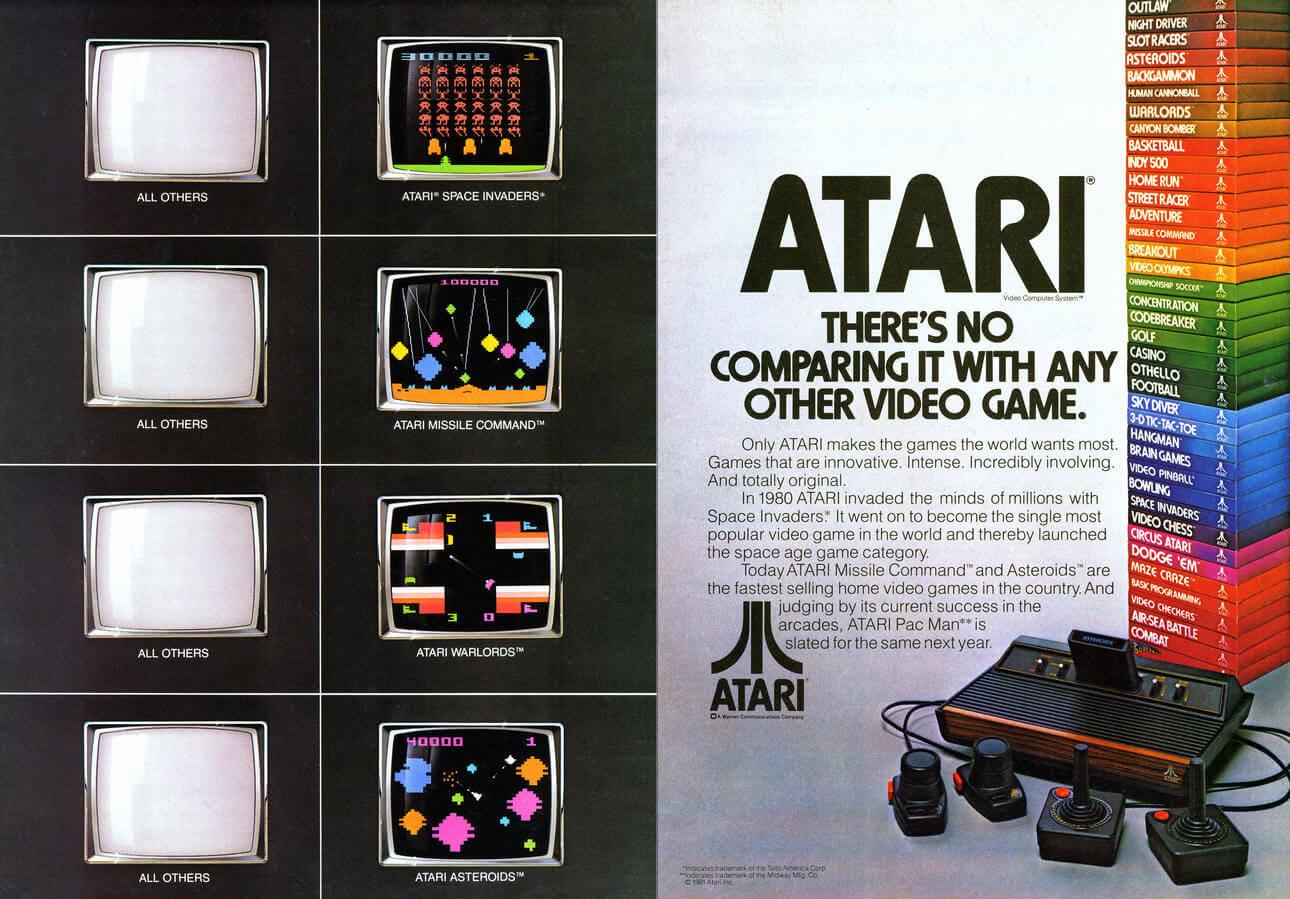 Рекламный принт Atari 2600