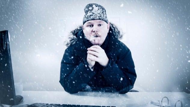 Замерз человек