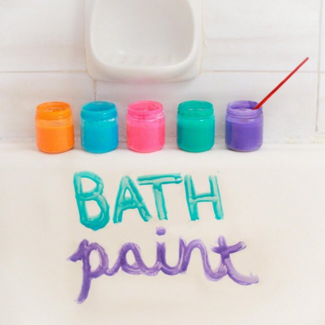 Мыльные краски для ванной комнаты