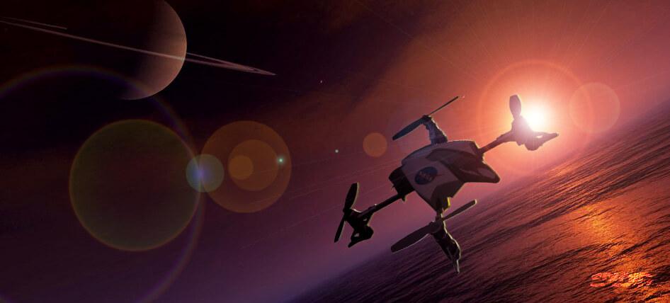 На Титан отправится квадрокоптер (3 фото)