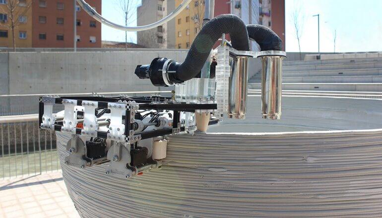 Строительство здания роботами Minibuilders