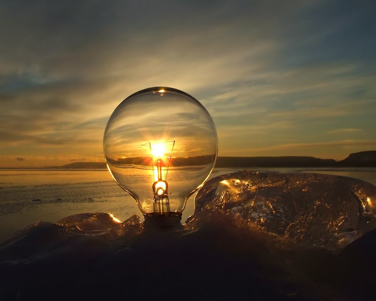 sunset-and-light-bulb