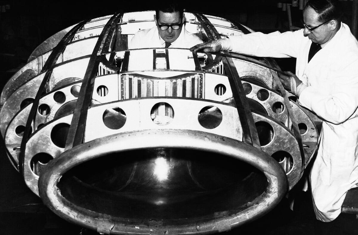 England Body of Donald Campbell's Bluebird Car