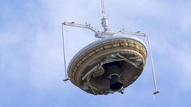 Испытания посадочного модуля LDSD