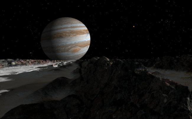 Вид на Юпитер с Европы