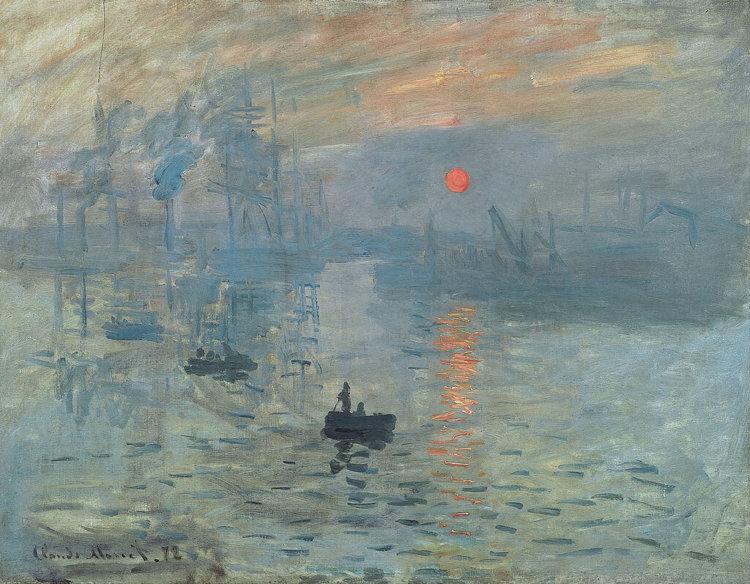 Оригинал картины Клода Моне «Впечатление. Восходящее солнце»