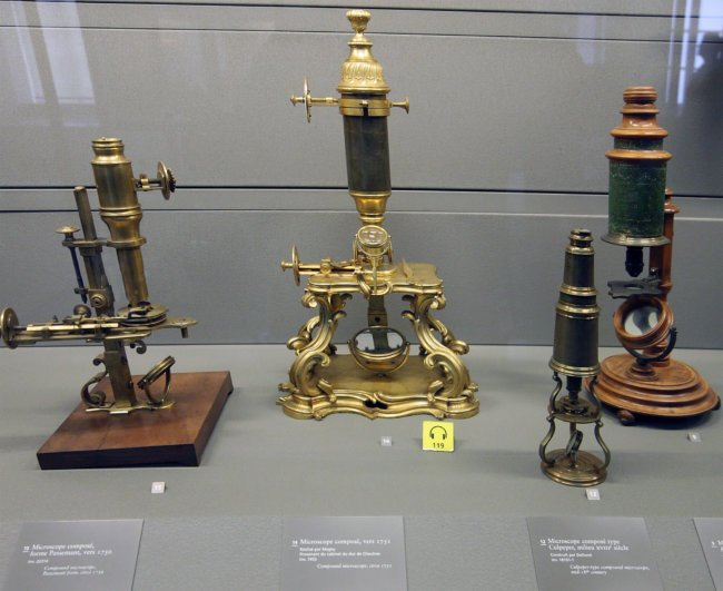Старые микроскопы