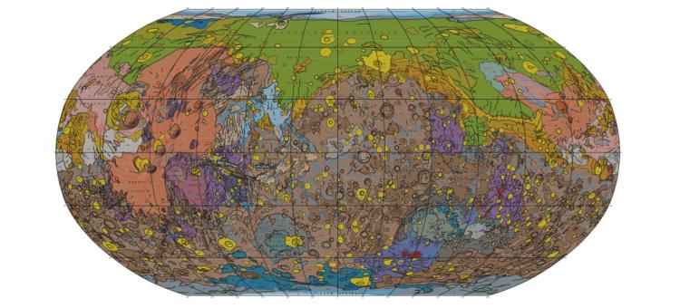Создана самая детализированная карта поверхности Марса