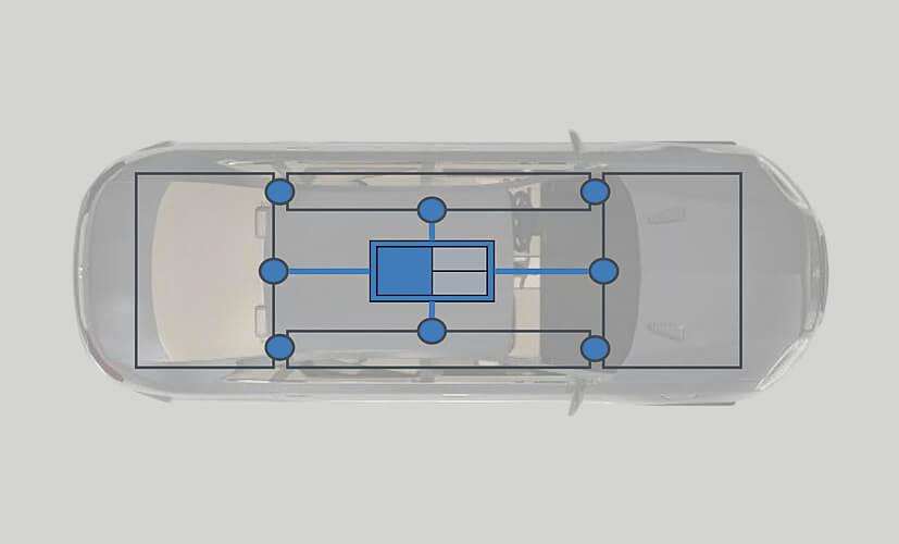 Так будет выглядеть электронная схема электромобиля будущего
