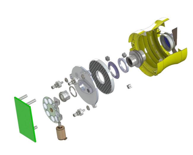 Модель камеры напечатанной на принтере
