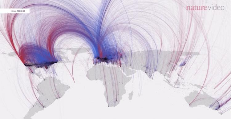 Пятиминутное видео демонстрирует историю культуры за 2600 лет