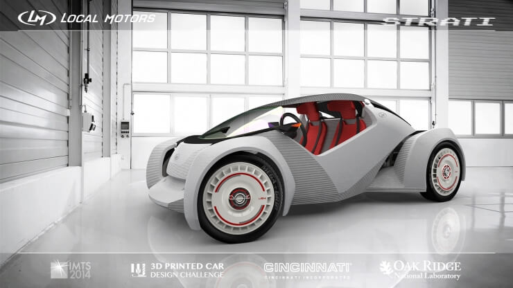 Проект 3D-печатанного автомобиля