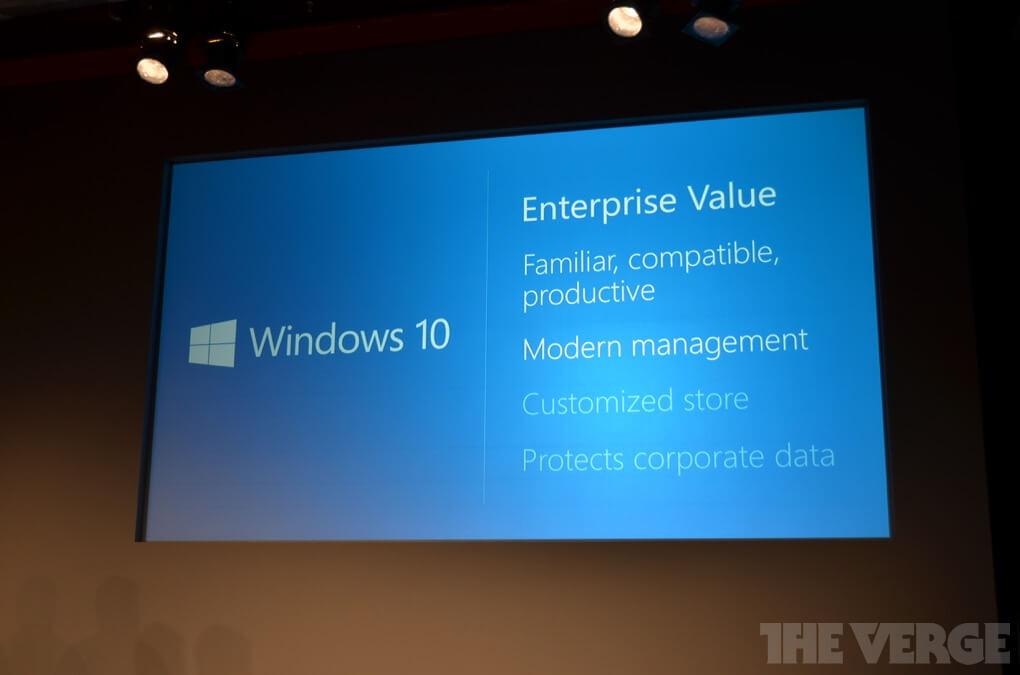 Windows 10 для корпоративных сегментов