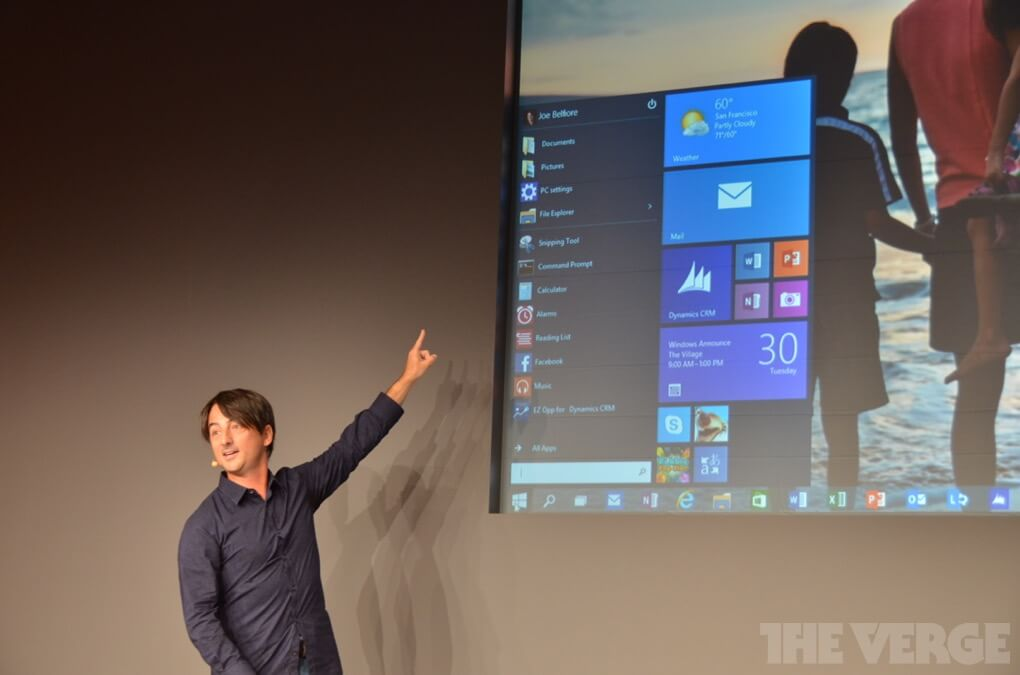 Windows 10 меню Пуск