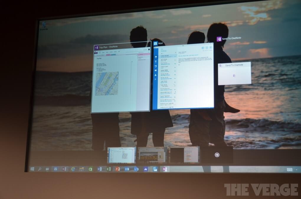 Windows 10 многозадачность