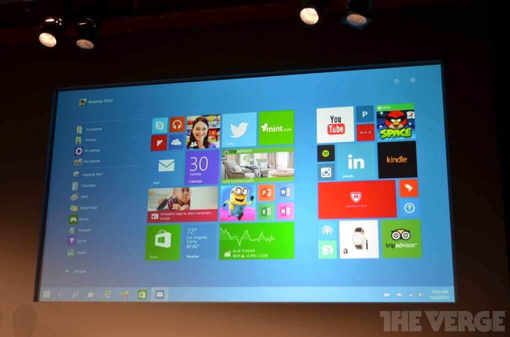 Windows 10 полноэкранный Пуск