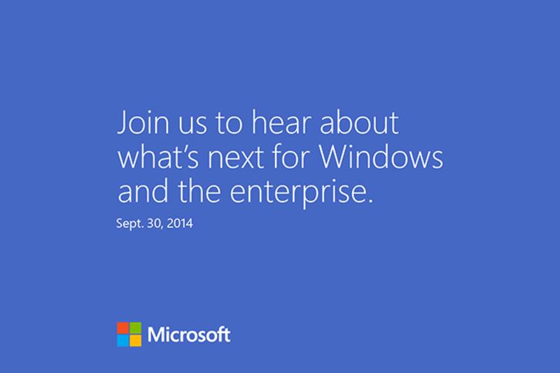 Microsoft рассылает приглашения на презентацию Windows 9