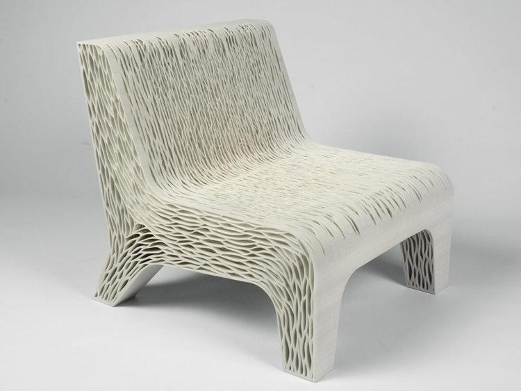 Кресло, напечатанное на 3D-принтере, способно принимать форму вашего тела