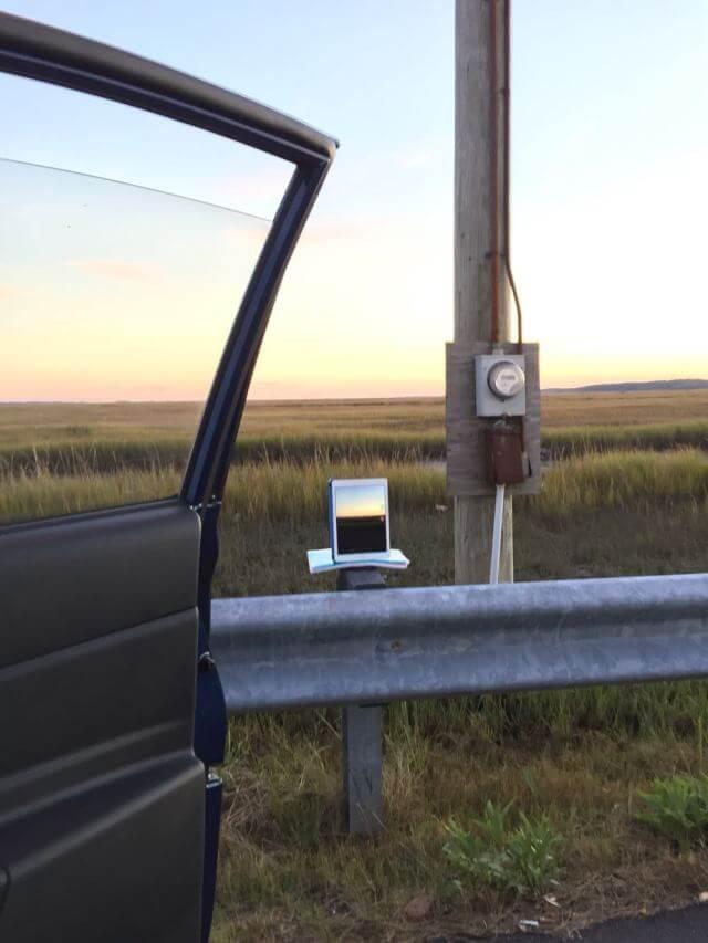 iPad, наблюдающий за стартом Antares
