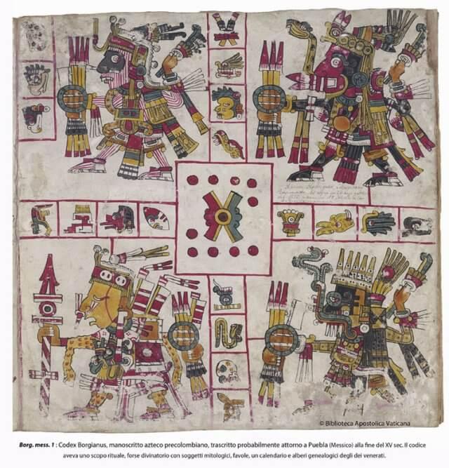 Цифровая копия ацтекской рукописи доколумбовой эпохи, составленная, вероятнее всего, в городе Пуэбла (Мексика) в конце пятнадцатого столетия
