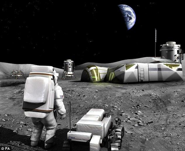 Лунная база по переработке отходов