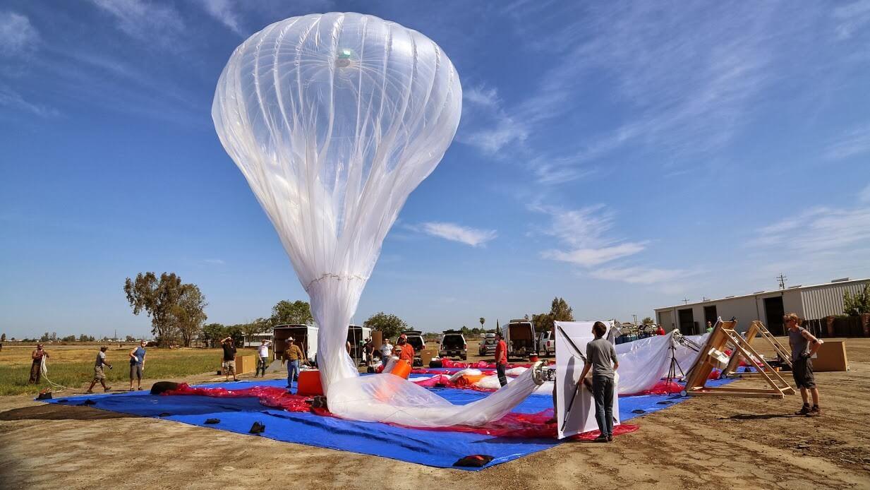 Google Loon Доставка Интернета воздушными шарами