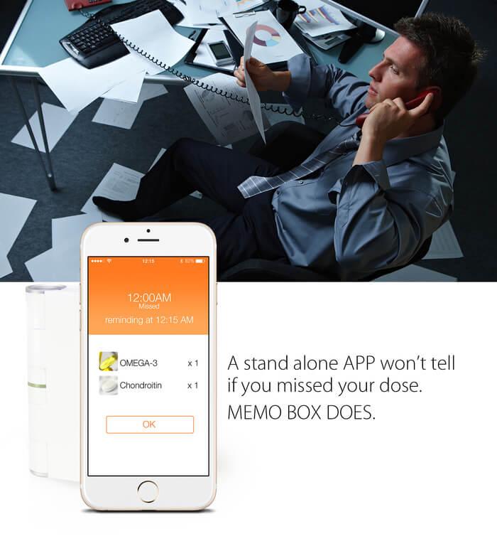 Memo Box – умный гаджет, который не позволит вам забыть принять лекарство_large