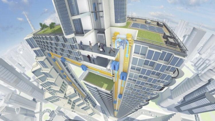 Концепт маглев-лифта