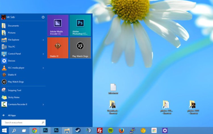 Скриншот Windows 10