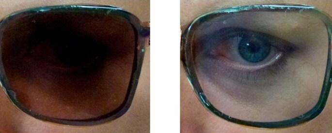 Очки «два в одном»: от прозрачных к солнцезащитным нажатием кнопки