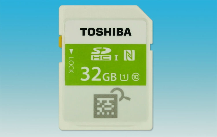 Карта памяти с NFC от Toshiba