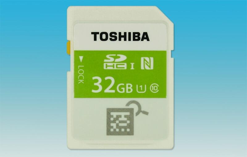 #CES | Toshiba представила первую в мире карту памяти с модулем NFC