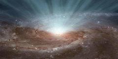 Черная дыра в центре галактики - иллюстрация