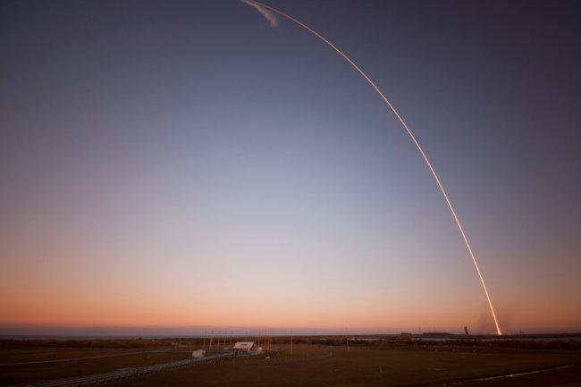 След Falcon 9