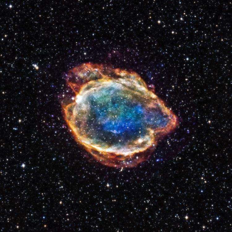 Астрономы NASA запечатлели останки взорвавшейся звезды