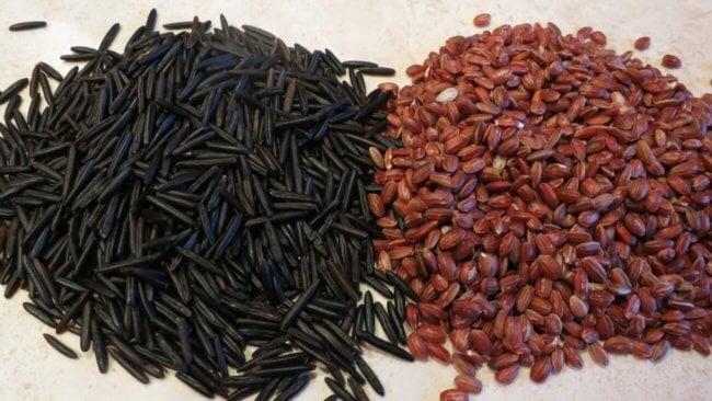 Дикий рис и красный гималайский рис