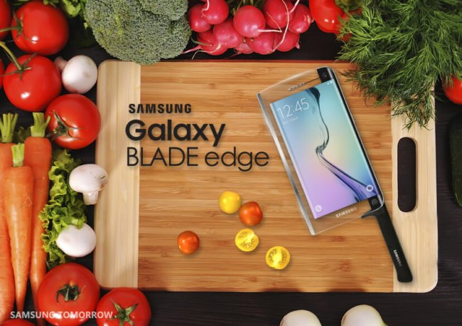 Samsung представил первый в мире смарт-нож Galaxy Blade edge с функциями смартфона