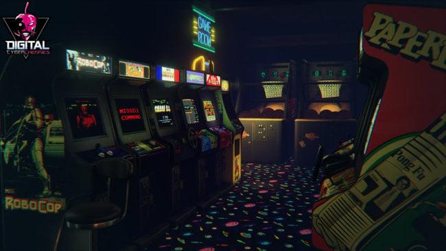 Симулятор зала игровых автоматов для VR-очков