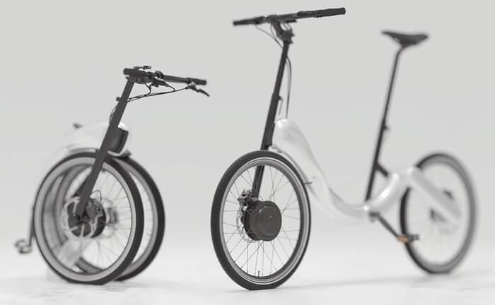 JIVR – компактный дизайнерский велосипед с электродвигателем
