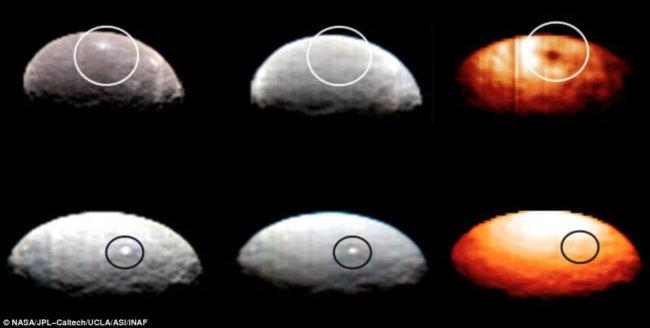 Термическое изображение Цереры