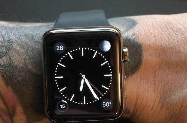 Тату apple watch apple watch case gold