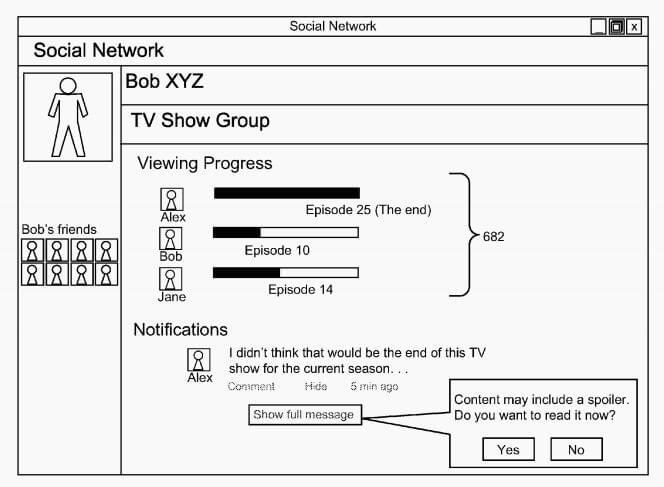 Google запатентовала систему блокировки спойлеров в социальных сетях