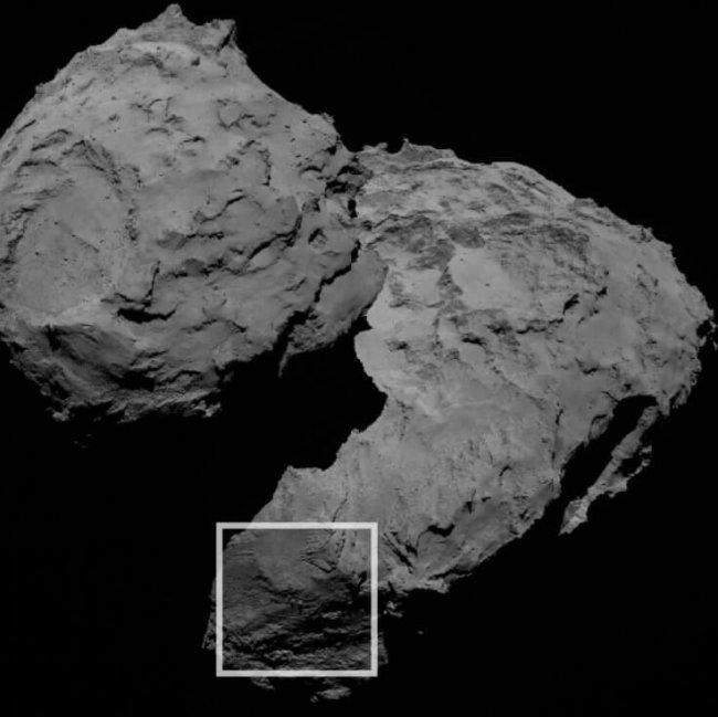 Камни на комете